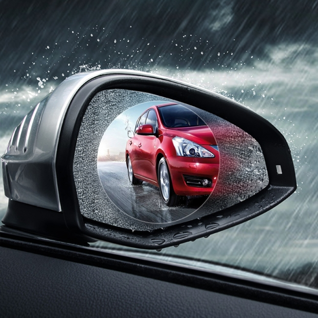 Anti fog rain shield screen film for car side mirror